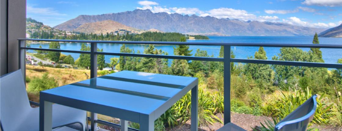 Scenic View Upper Floor Terrace Highview Apartments Queenstown